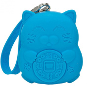 E.a@market Girl's Silicon Fortune Cat Coin Purse Key Case