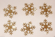 3 Pack = 18 Glitter 2.5cm Snowflake Iron-On