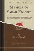 Memoir of Sarah Knight
