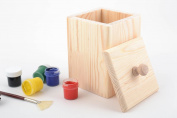 Beautiful square handmade wooden blank box for dry goods creative ideas