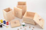 Set of 3 handmade wooden kitchen storage boxes craft blanks for decoupage