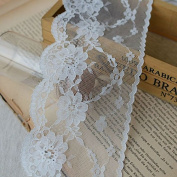 10 Yards 8.6cm Polyester Lace Trim Ribbon Fabric Lace Home Decoration Doll Lace Craft Sewing Bridal Veils