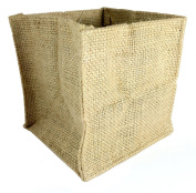 Burlap Tote Bags Natural Colour Birthday Anniversary Wedding Bridal Shower Christmas Favour Bags (13cm x 13cm (12-pack) ...