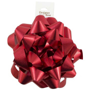 JAM Paper® Medium Gift Bows - 14cm - Textured Red - Sold Individually