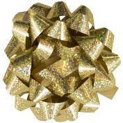 JAM Paper® Small Gift Bows - 8.9cm - Specklled Gold - 12 Per Pack