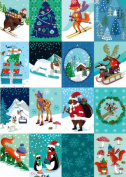 Chalet Checkboard Boxed Christmas Cards