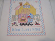 Home Sweet Home Stamped Cross Stitch Sampler