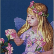 Dimensions 70-35297 Rose Fairy Counted Cross Stitch Kit-11X11 14 Count