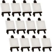US Art Supply Artists 7.6cm x 7.6cm Mini Canvas & Black Easel Set Painting Craft Drawing - Set Contains