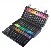 Set Of 36 Oil-Based Paint Marker Fine Point Marking Pen Colour Set Black