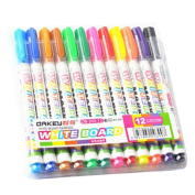 Set of 12 Colour Pen Paint Marker Fine Point Mark Pen Colour Set, Colourful NO.18