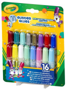 Crayola; Mini Washable Glitter Glue; Art Tools; 16 ct.; 16 Sparkly Colours; Great for Arts and Crafts