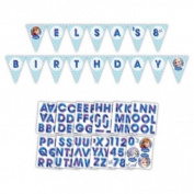 NEW DESIGN Disney Frozen Holographic Bunting Banner to Personalise