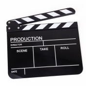 Tinksky English Version Clapper Board Slate Clap-stick for TV Film Movie