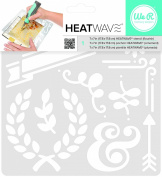 American Crafts We R Memory Keepers Heatwave Flourish Stencil, 18cm x 18cm