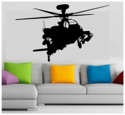 Military Apache Attack Army Helicopter vinyl sticker wall car decal