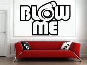 Blow Me Turbo Decal Funny Car Truck Vinyl Sticker JDM Racing Window Decal