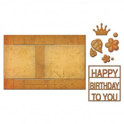 Spellbinders S7-202 Decorated Birthday Shapeabilites Card Creator