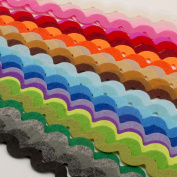 Summer-Ray.com 90pcs (28.5 yrds in total) Mixed Colours Felt Ric Rac Ribbons