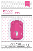 American Crafts Knock Outs Mini Baby Foot Punch, 1cm