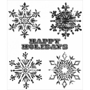 Tim Holtz Cling Rubber Stamp Set 18cm x 22cm -Weathered Winter