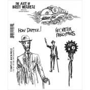 Brett Weldele Cling Rubber Stamp Set 18cm x 22cm -Dandy Robot