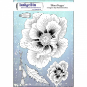IndigoBlu Cling Mounted Stamp 20cm x 14cm -Giant Poppy
