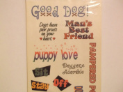 Memories in the Making Vellum Dog Phrase Stickers
