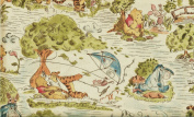 """1 Yard """"Pooh's Day in the Park"""" 100% Cotton Fabric - Winnie-the-Pooh, Eeyore, Piglet & Tigger (Great for a Quilt Back, Quilting, Sewing, Craft Projects, Throw Pillows & More) 1 Yard X 110cm Wide"""