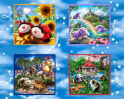 """""""My Pillow Pets"""" 100% Cotton Fabric Panel (Great for Quilting, Sewing, Craft Projects, Throw Pillows & More) 90cm X 110cm"""