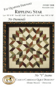 "Rippling Star Quilt Pattern, No Diamonds, No ""Y"" Seams, Fat Quarter Friendly, 4 Size Options"