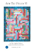 Sew the Pieces VI Quilt Pattern, Jelly Roll 6.4cm Strip Friendly, 130cm x 170cm Finished Size
