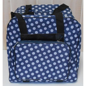 Hemline Dotty Serger Overlock Bag in Navy Polka Dot