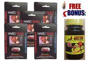 Hard Times for Men - Lot of Extreme Erection Pill for Men, Kit Male Enhancement - 5 Capsule Model
