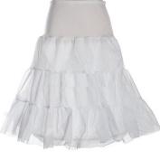 Zimo White Tutu Gown 50s Petticoat Underskirt Crinoline Slip