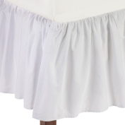 American Baby Company 100% Cotton Percale Ruffle Crib Skirt, White