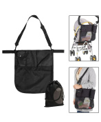 JAVOedge Black Over the Shoulder or Stroller Attachment Storage Bag