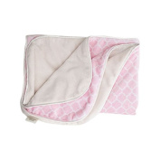 LUXE BABY Luxe Damask Minky Blanket, Pink