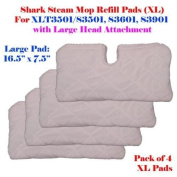XL Large Steam Mop Replacement Pocket Pads For Shark S3501 XLT3501 S3601 S3901