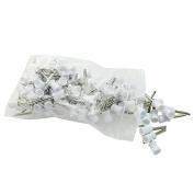 icarekit White Colour 100 PCS Dental Polishing Polish Prophy Cup Brush 4 Webbed Latch Type