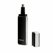 TRYM Nose Hair Trimmer with LED Grooming Light for Precision Trimming - Sleek and Premium Design Ideal for Trimming Your Nose, Ears, and Eyebrows