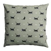 Sophie Allport Cushion - Cat (45Cm X 45Cm) Green/White