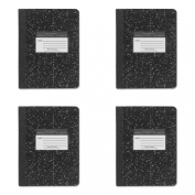 Roaring Spring Marble Cover Wide Rule Composition Book, 9.75 x 7.5, 100 Pages (77230), 4 Packs