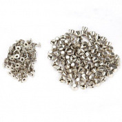 Dealglad 100pcs 10mm Flat Head Rivet Spike Stud Punk Bag Leather Craft DIY Silver