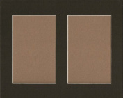 Pack of 5 8x10 Black Picture Mat, for 2 4x6 Photos or Pictures