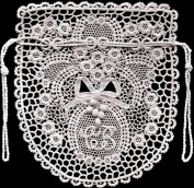 Vintage Crochet PATTERN to make - Antique Irish Rose Crocheted Opera Bag. NOT a finished item. This is a pattern and/or instructions to make the item only.