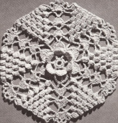 Vintage Crochet PATTERN to make - Bedspread MOTIF BLOCK Irish Melody. NOT a finished item. This is a pattern and/or instructions to make the item only.