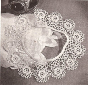 Vintage Crochet PATTERN to make - IRISH ROSE Crochet Motif Collar. NOT a finished item. This is a pattern and/or instructions to make the item only.