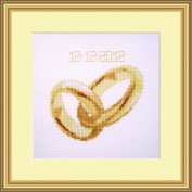 Wedding Rings Counted Cross Stitch Kit By Orcraphics