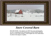 Snow Covered Barn, Landscapes Counted Cross Stitch Pattern